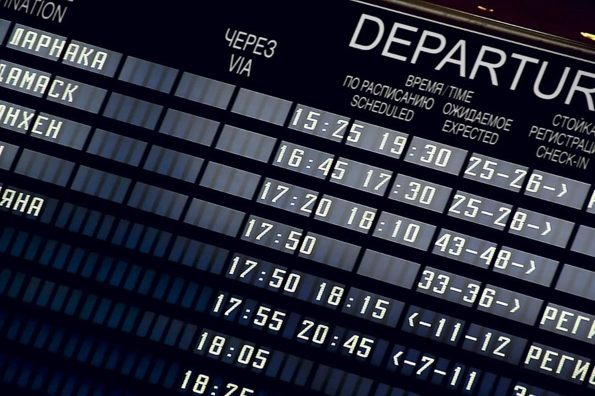 Anzeigetafel Flughafen